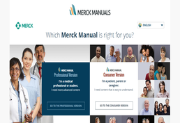 Merck Manuals Screenshot