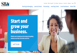 Small Business Administration Screenshot